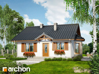 projekt - Dom w jagodach ver.2 [ 61,28 m2 ]