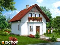 projekt - Dom nad strumykiem [ 84,80 m2 ]