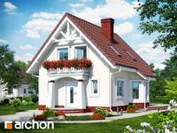 projekt - Dom w winogronach ver.2 [ 74,12 m2 ]