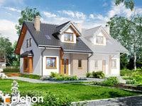projekt - Dom w cyklamenach 2 ver.2 [ 86,71 m2 ]